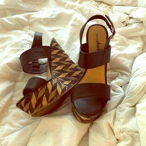 Platform wedge heels